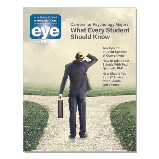 Picture of Eye on Psi Chi Print Publication Ad: Half page(vertical) 3 1/2 x 8 7/8