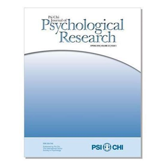 Picture of Psi Chi Journal of Undergraduate Research Reprint Publication Agreement (Vol 20, Issue 1)