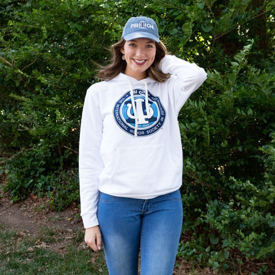 Picture of Psi Chi Hoodie- White