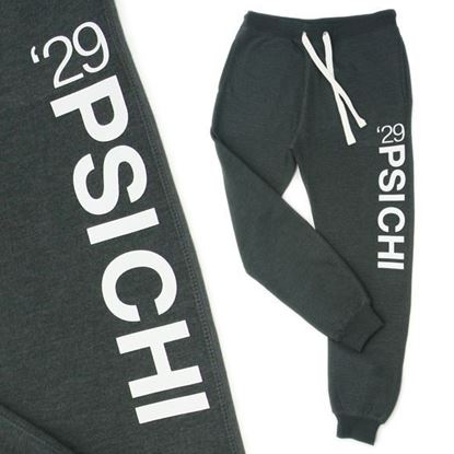 Picture of Psi Chi '29 Joggers- Black Heather