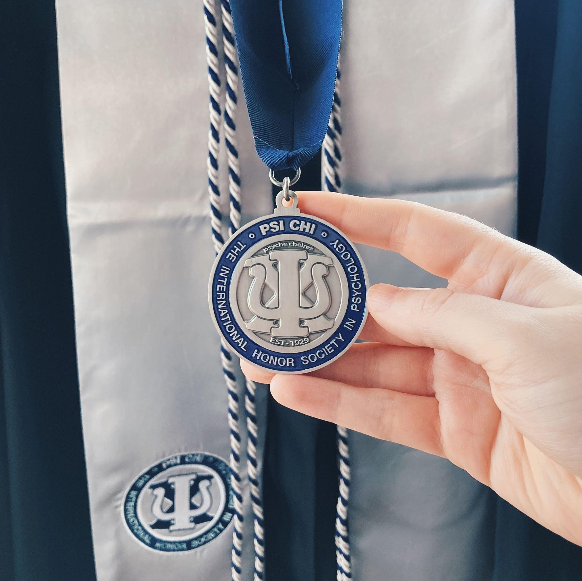 Detail of Psi Chi Platinum Medallion
